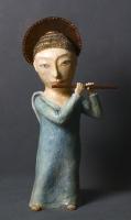 Фигурка девочки-ангела с флейтой