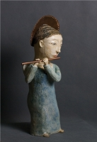 Ангел с флейтой. Глина, глазурь