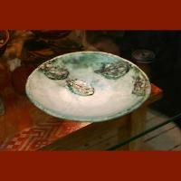Блюдо с листьями. Керамика