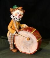 Фигурка клоуна. Глина, глазурь