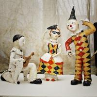 Венецианские клоуны. Глина, глазурь