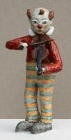 Клоун со скрипкой, глина, глазурь