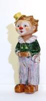 Фигурка клоуна с зайчиком. Глина