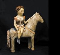 Циркачка на коне. Глина, глазурь